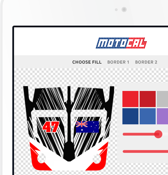 Motocal atv custom decals start your design start your design