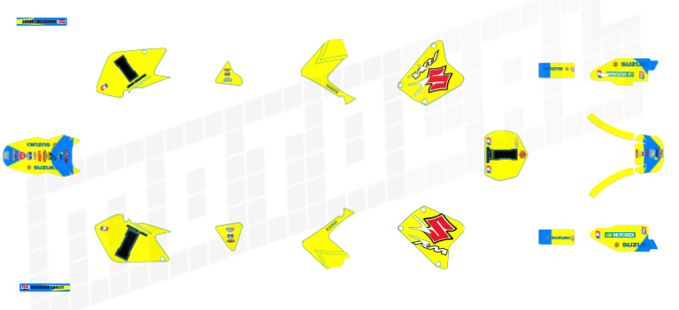 Suzuki RM Decals: Graphics, Stickers & Wraps | Motocal - Motor ...