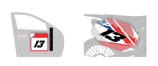 Vehicle Templates | Motocal - Motor Racing Decals