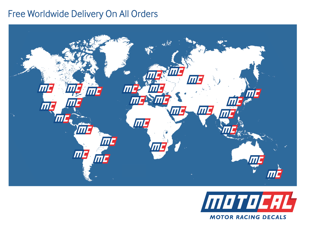 Shipping Details | Motocal - Motor Racing Decals